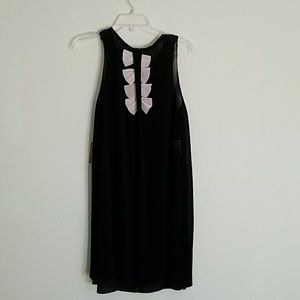 Rachel Roy Cocktail Mini Pleated Dress Sz S Black